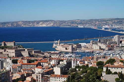 Vista de Marseille a partir da Basílica