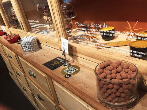 Percurso de degustação dos chocolates Valrhona