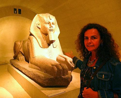Zildinha no departamento das Antiguidades Egípcias do Louvre