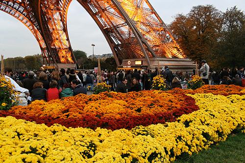 Toussaint na Torre Eiffel. Vincent-t no Flickr