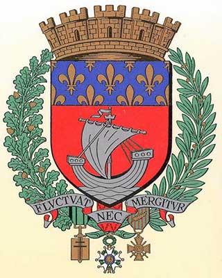 Emblema e divisa de Paris