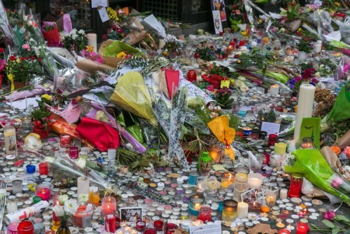 Homenagem às vítimas do atentado em Paris.