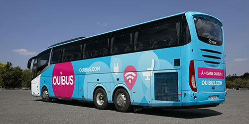 Ônibus Ouibus da empresa francesa SNCF
