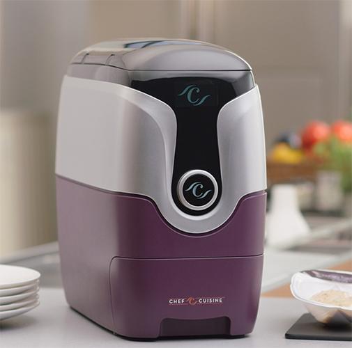 Máquina para colocar as receitas na temperatura exata