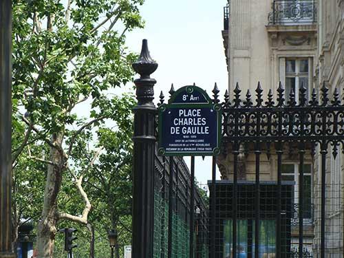 Praça Charles de Gaulle em Paris