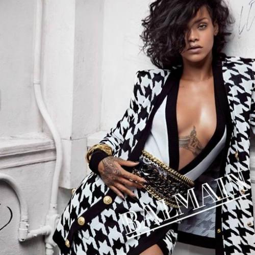 Rihanna na campanha SS 2014 da Balmain