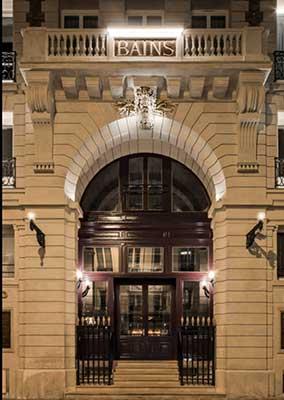 Hotel, restaurante e club Les Bains