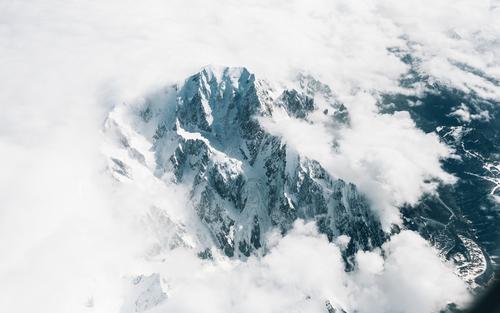 O Mont Blanc, visto de um avião