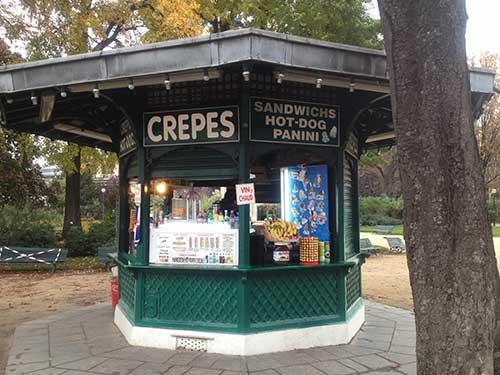 Quiosque de crepes na Champs Élysées