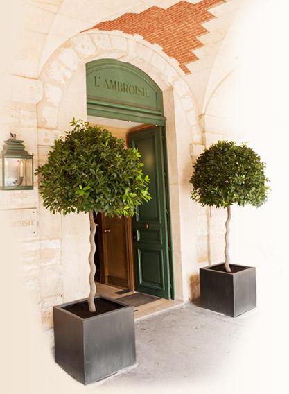Sob as arcadas da Place des Vosges está a discreta entrada do restaurante L'Ambroisie