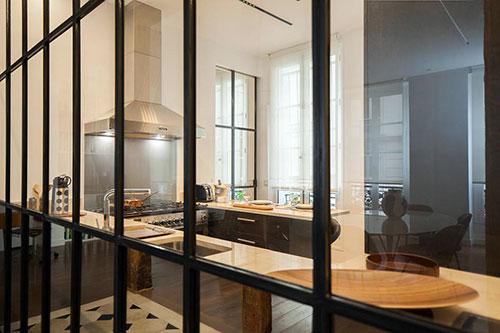 Cozinha apartamento ilha Saint Louis
