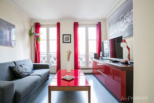 Quarto e sala em Paris