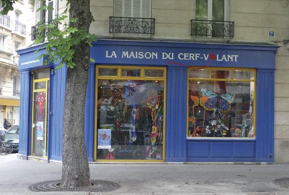 Loja especializada em pipas, em Paris