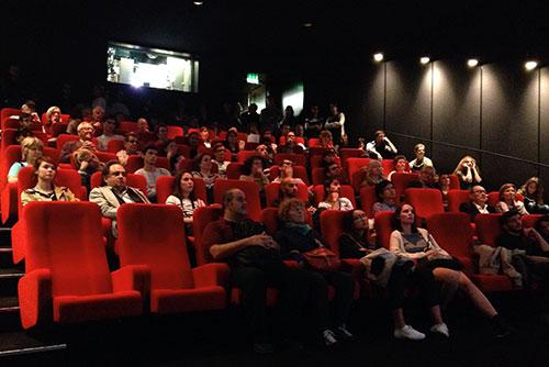 Sala de projeção de filmes mudos