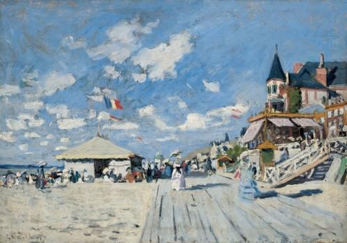 Monet, Sur les planches de Trouville.