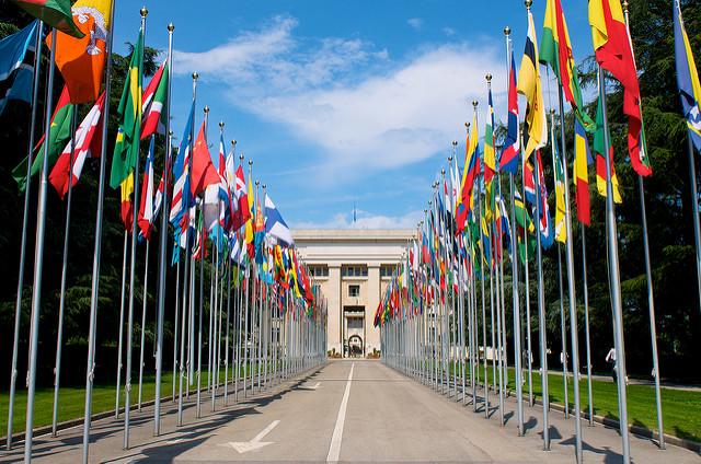 Palácio das Nações, sede da ONU em Genebra.