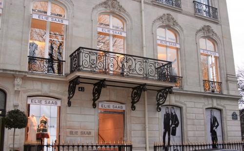 Loja da Elie Saab na região da avenida Champs Élysées