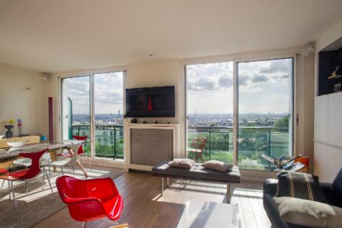 Apartamento para alugar com vista para toda a cidade de Paris