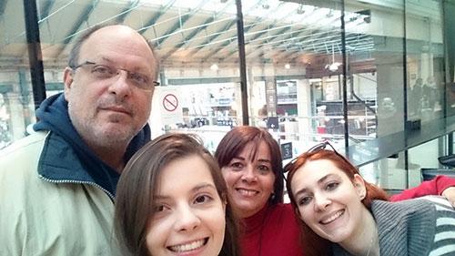 Ericka e família