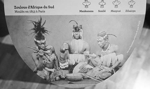 Foto das exposições dos indígenas