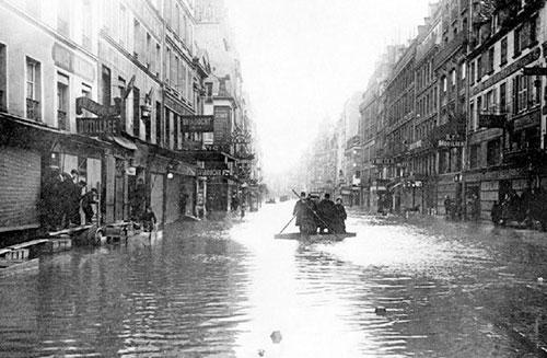 Paris inundada em 1910