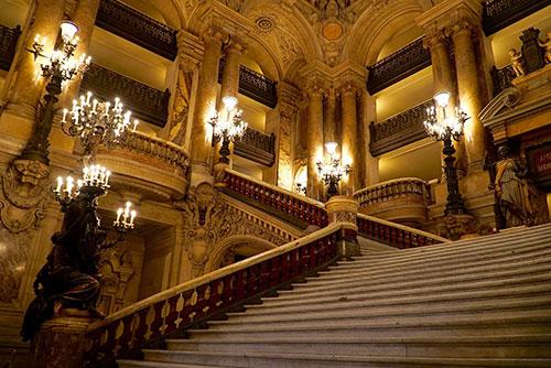 Opera Garnier, escadarias. Foto: Fabrizio Rosa