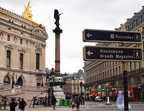 Lateral da Opera Garnier, rue Scribe