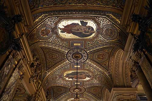 Opera Garnier, teto do Grand Foyer. Foto: Fabrízio Rosa
