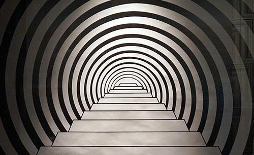 Papel de parede, ilusão de ótica