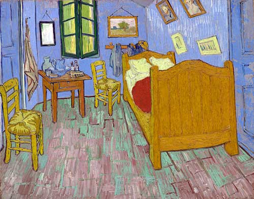 "Segunda versão. Vincent van Gogh, ""The Bedroom"" (1889), The Art Institute of Chicago, Helen Birch Bartlett Memorial Collection"