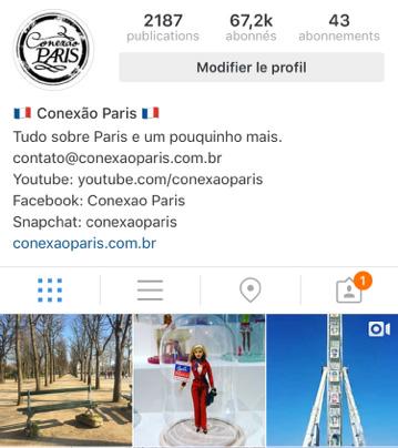 Conexão Paris Instagram