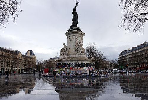 Place République no início de março 2016
