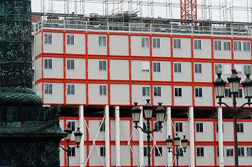 Place Vendôme durante as obras do Hotel Ritz. Foto: Facebook do Ritz.