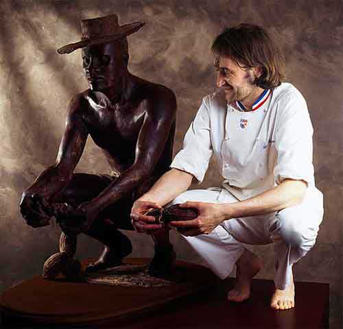 Roger e suas esculturas