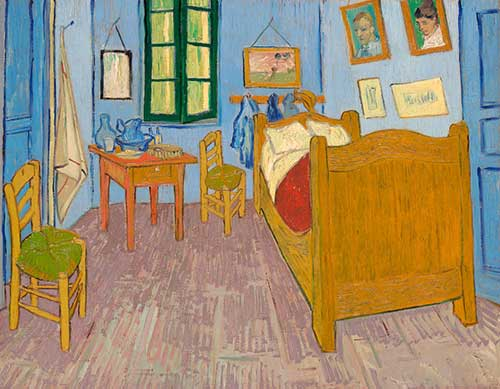 "Terceira versão: Vincent van Gogh, ""The Bedroom"" (1889), Musée d'Orsay, Paris, sold to national museums under the Treaty of Peace with Japan, 1959"