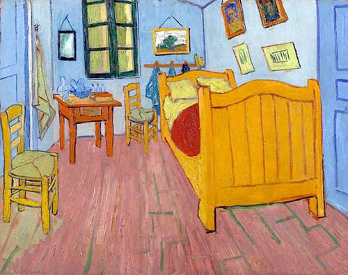 "Primeira versão. Vincent van Gogh, ""The Bedroom"" (1888), Van Gogh Museum, Amsterdam (Vincent van Gogh Foundation)"