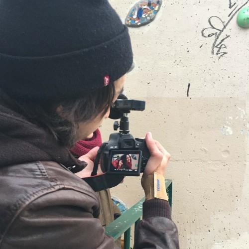 Filipe no processo de filmagem