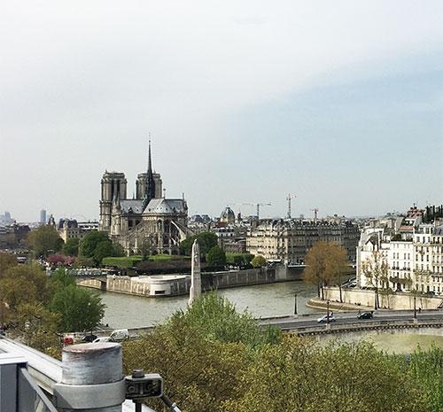 Vista da Notre Dame. Foto Aloysio Bello