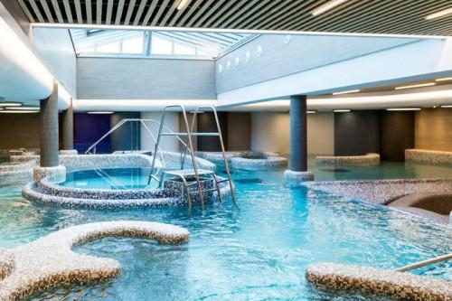 O percurso aquático no spa