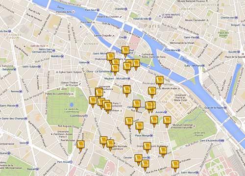 Mapa interativo das livrarias que participam da Festa do Livro