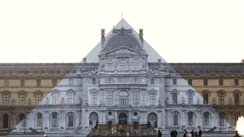 JR no Louvre