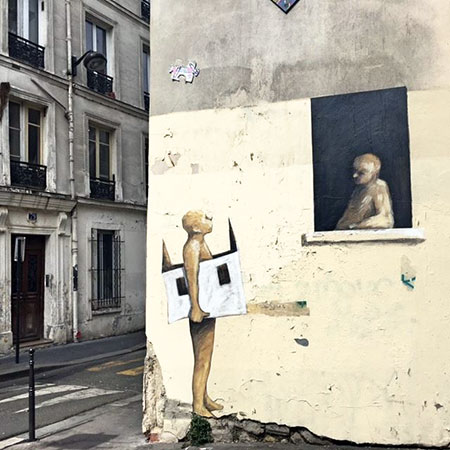 Street art. Philippe Hérard