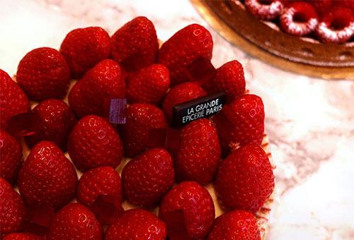 Torta de morangos da Grande Épicerie de Paris
