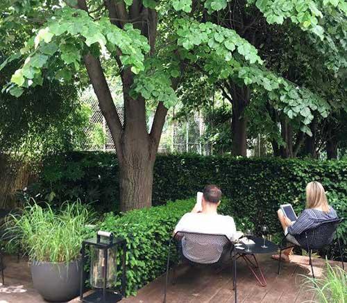 Jardim interno secreto