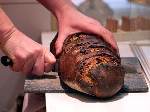 Deliciosos pães vendidos em fatias