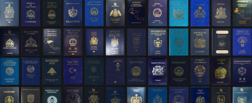 Passaportes azuis