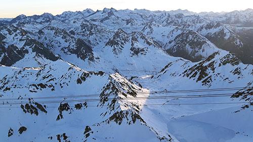 Vista a partir do Pic du Midi. Fotos;