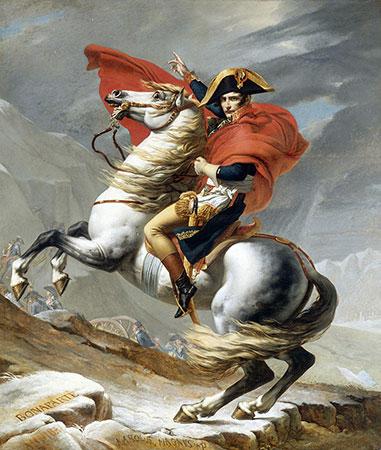 Bonaparte franchissant le Grand Saint Bernard, Jacques Louis David
