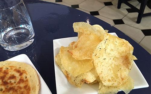 Chips com caviar