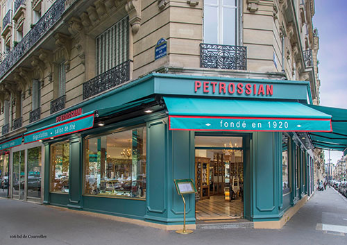 Petrossian, perto do parque Monceau